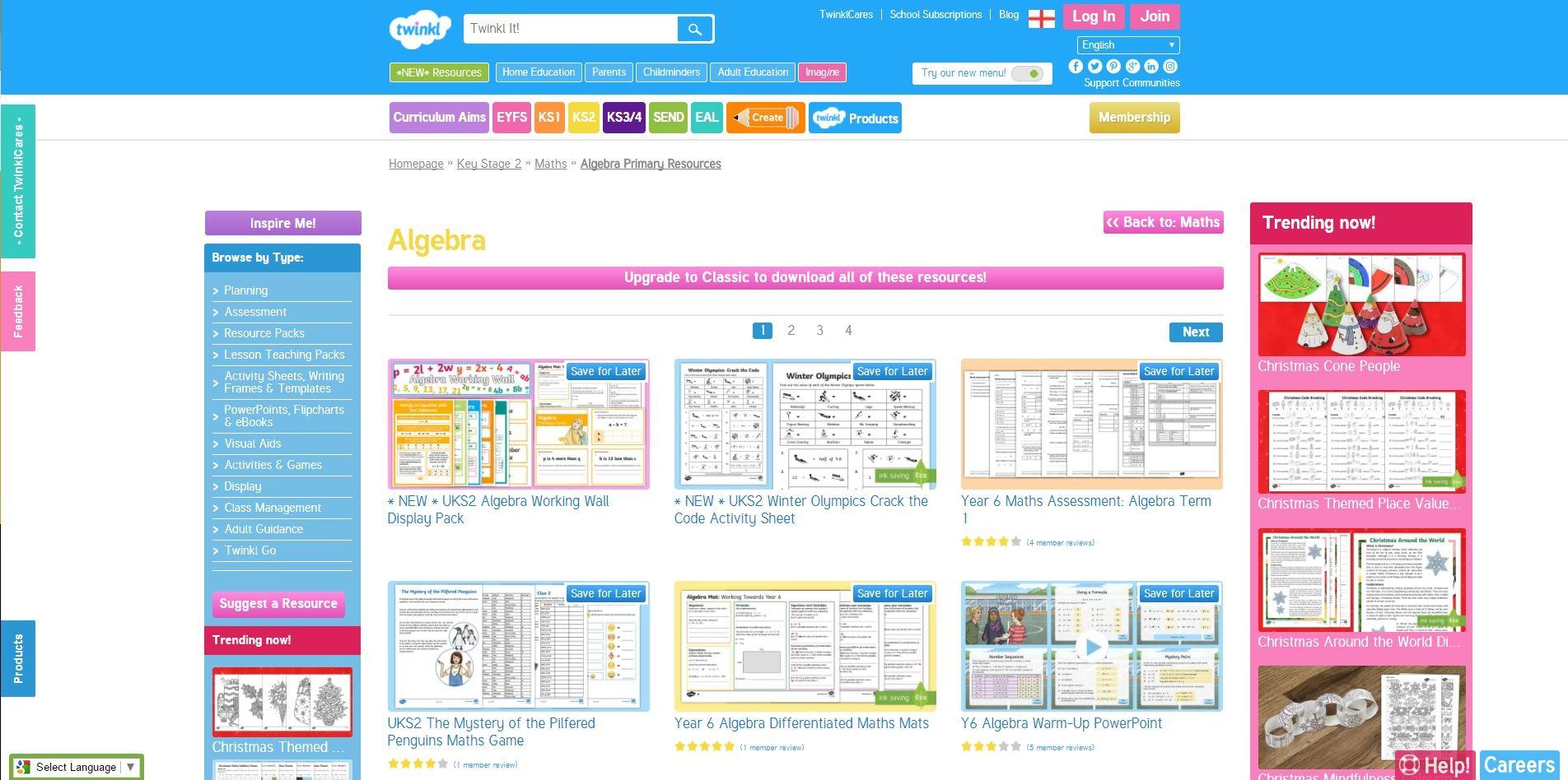 Twinkl learning tool