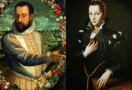 Duke Alfonso II and Lucrezia de' Medici