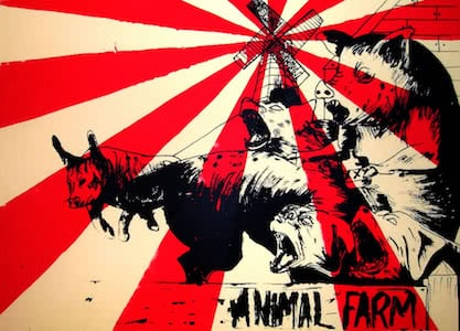 an overview of the elements of literature in the novel animal farm by george orwell Most often mentioned alongside animal farm is 1984, another orwell novel 1984 , published in 1949, envisions a future in which a dictatorship monitors and controls the actions of all of its citizens.